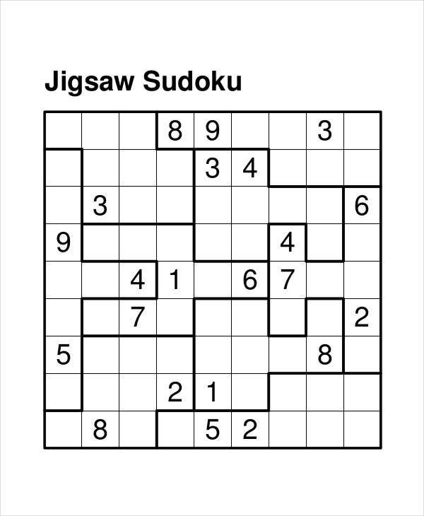 photograph about Sudoku Printable Hard called Printable Sudoku Puzzle - 7+ Totally free PDF Data files Obtain