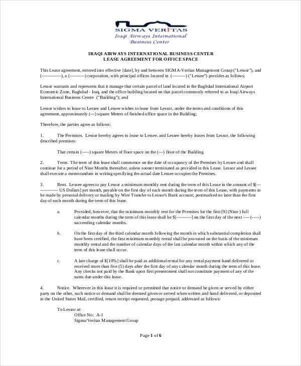Memorandum Of Lease Agreement Memorandum Of Agreement Form Sample