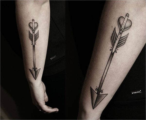 Follow Arrow Tattoo