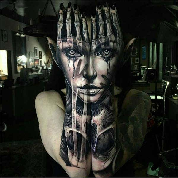 Forearm Girl Feeling Tattoo