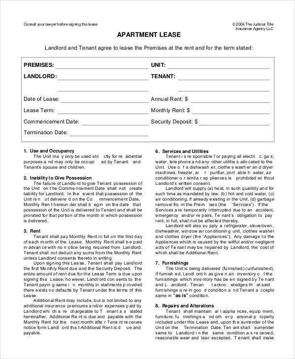 Lease Form - 9+ Free Word, Pdf Documents Download | Free & Premium