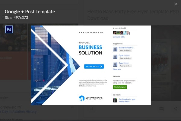 Facebook templates for business gallery business cards ideas 7 free google post templates business fashion maps travel business flashek gallery flashek Choice Image