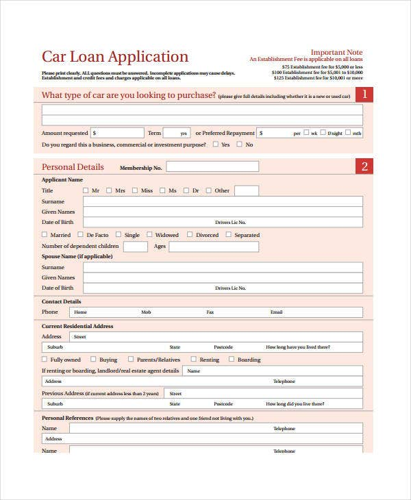 personal car loan agreement template