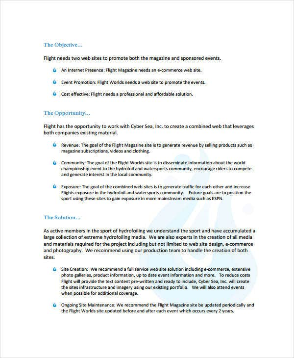Business Proposal Format   Free Pdf Word Documents Download