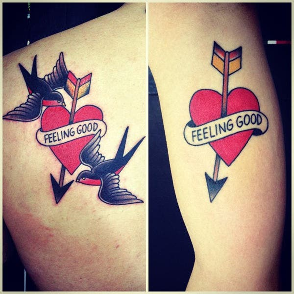 love tattoo design for couples