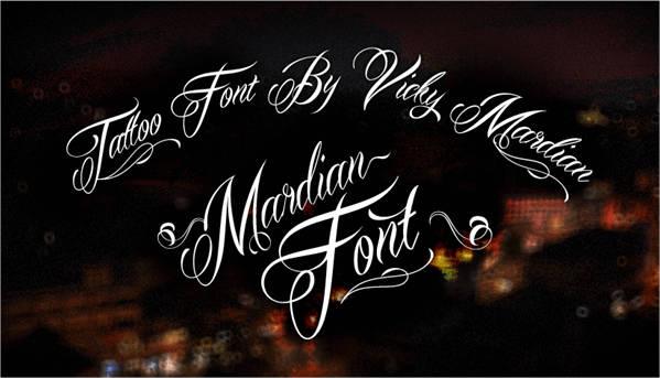 Classic Script Tattoo Font