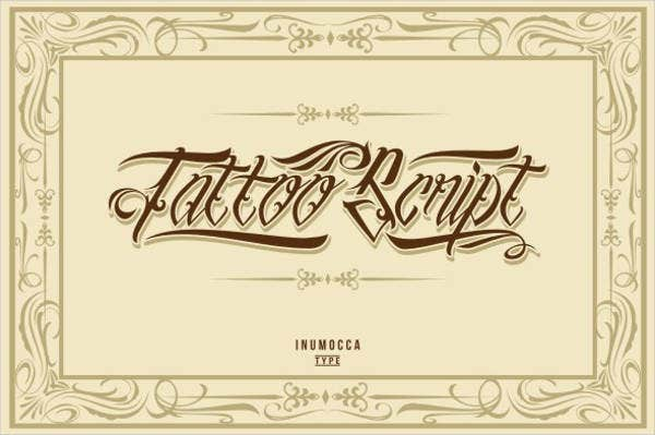 Fancy Script Tattoo Font