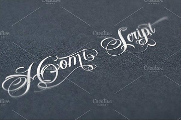 Handwriting Script Tattoo Font