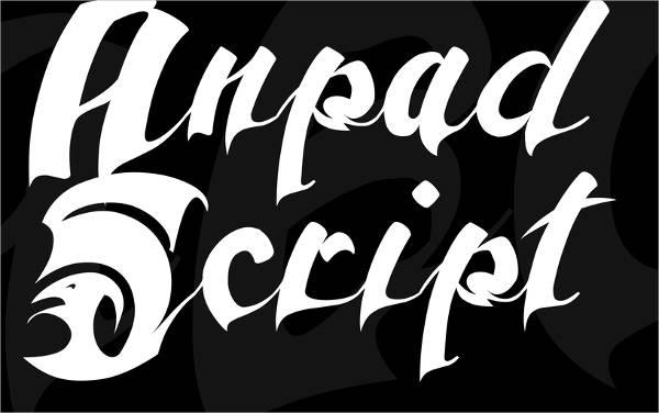 old english script tattoo font