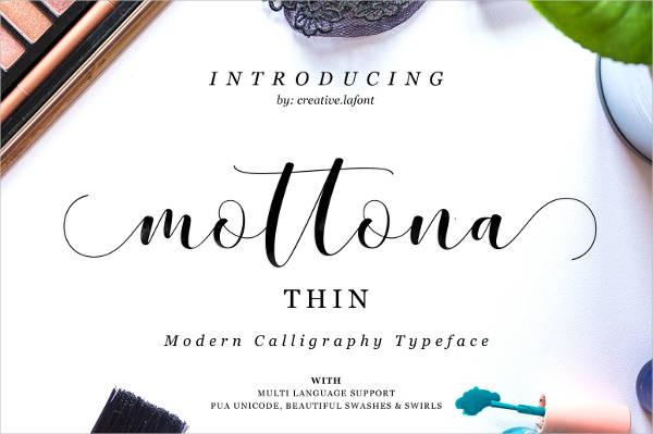 Thin Script Tattoo Font