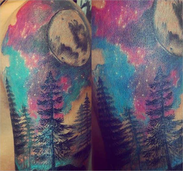 Beautiful Sky Tattoo Design