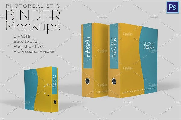 Photorealistic Binder Cover Template