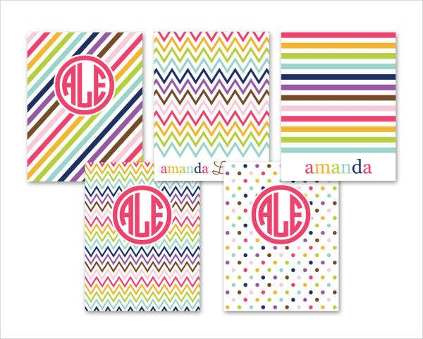 Monogram Binder Cover Template