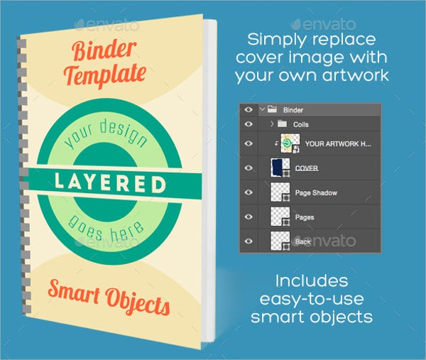 Binder Cover PSD template