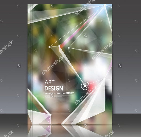 Abstract Binder Cover Template