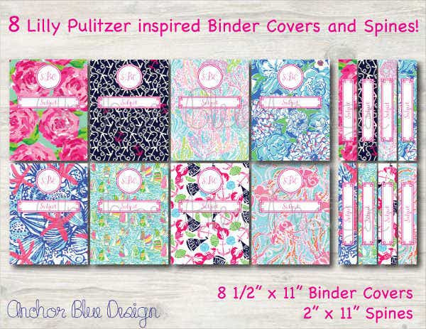 8 Inspired Binder Cover Template