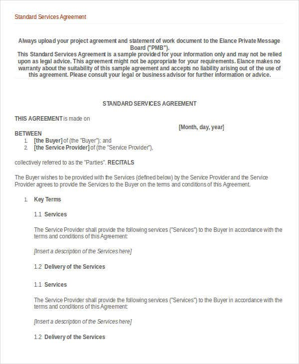 Service Agreement Template   Free Word Pdf Documents Download