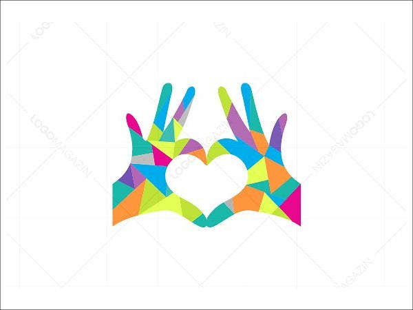Hands Heart Love Logo