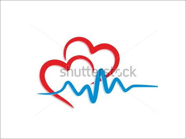 Heart Logo with Cardiogram