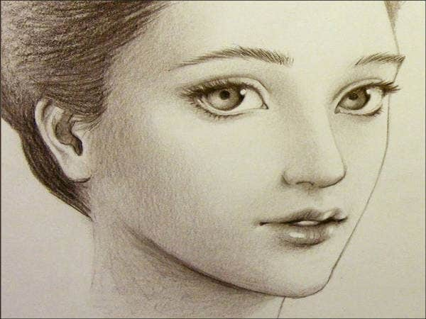 Beautiful Face Drawing