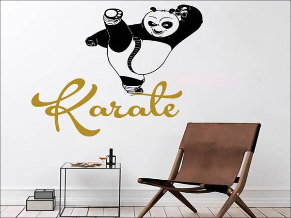 panda kung fu karate logo