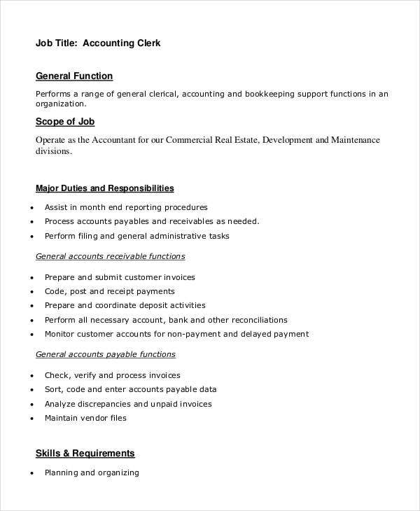 accounting analyst job description