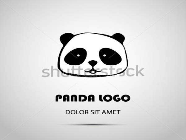 cute animal panda logo