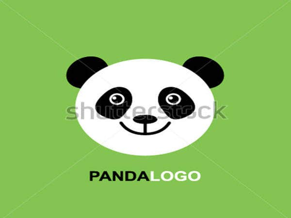 baby panda face template logo