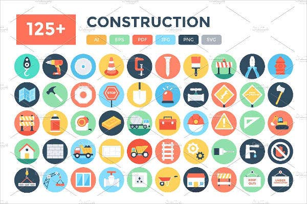 Flat Construction Icons