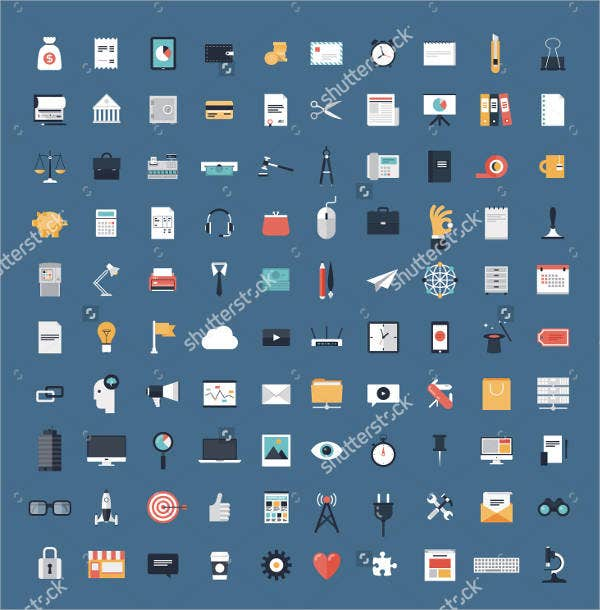 Modern Flat Icons Design