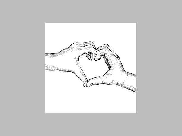 Hand Heart Drawing