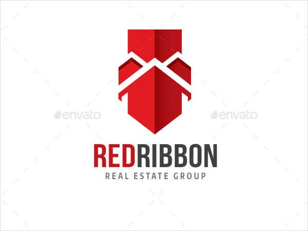 Red Ribbon Real Estate Logo