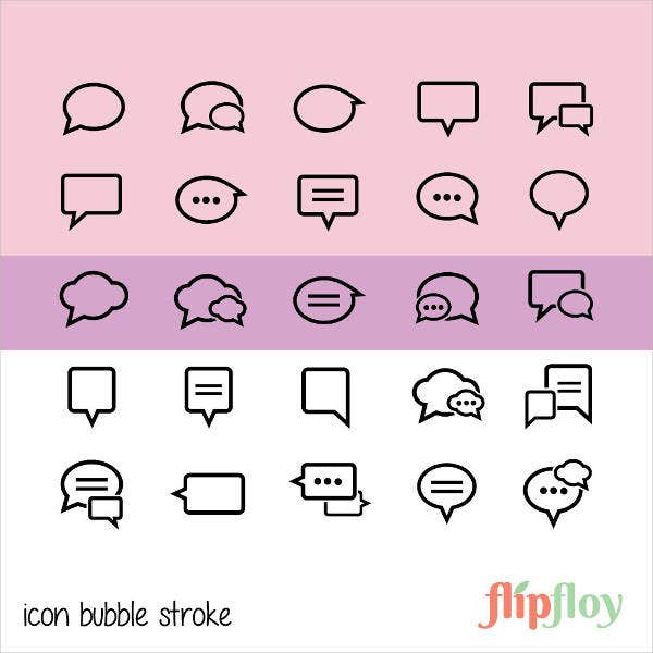Bubble Line Icons