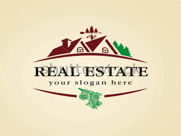 real estate logo for cottage town