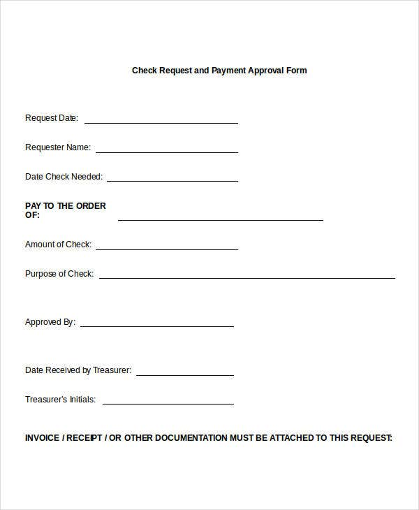Payment Request Form Cheque Book Request Form In Pdf Sample