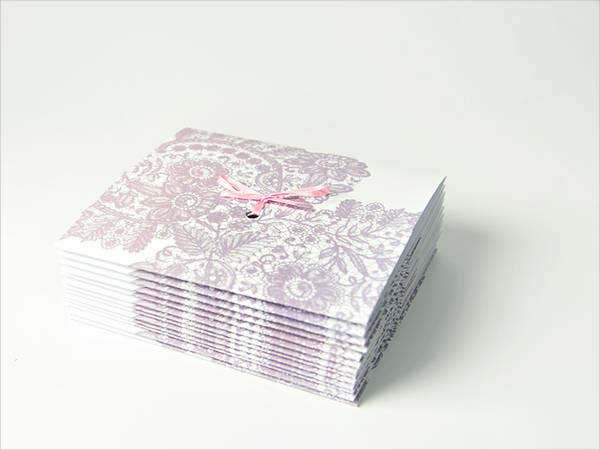 Lace and Cherry Blossom Wedding Invitations