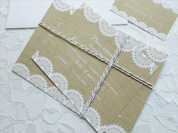 Burlap & Lace Wedding Suite