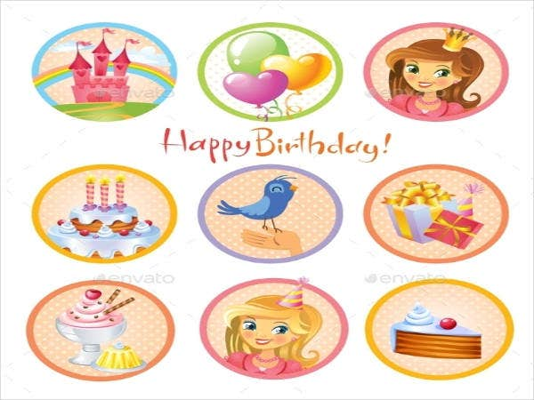 Cute Birthday Stickers