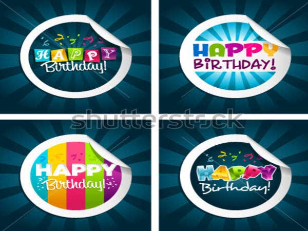 Happy Birthday Greeting Stickers