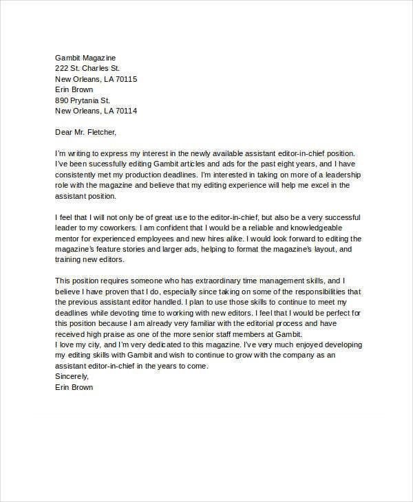 letter of interest sample  Letter of Interest - 12  Free Sample, Example, Format | Free ...