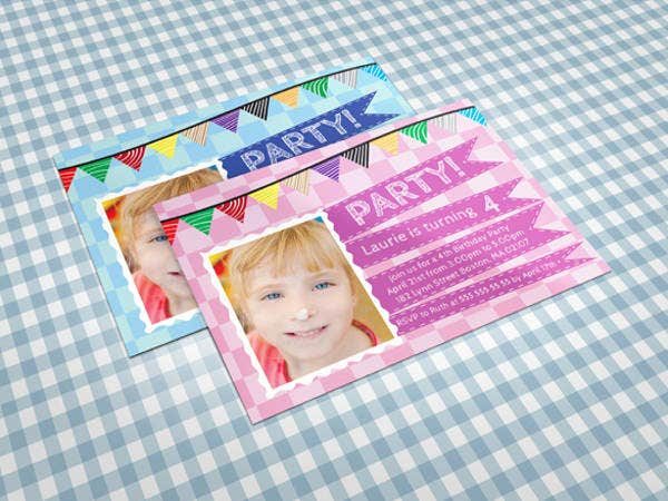 Free Birthday Invitation card Template