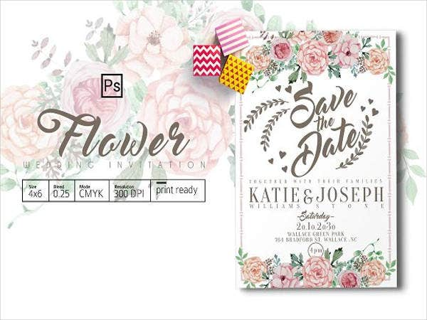 Flower Wedding Invitation