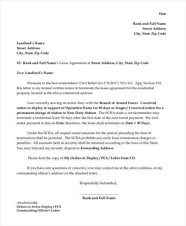 formal lease termination letter