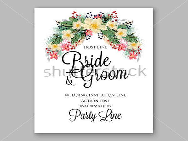 Anemone Wedding Invitation