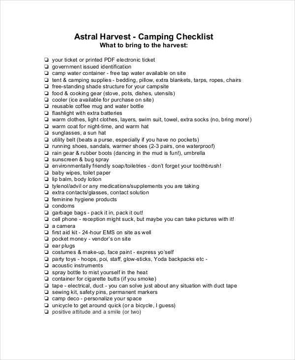 Camping Checklist Rv Kitchen Checklist  Travel By Rv