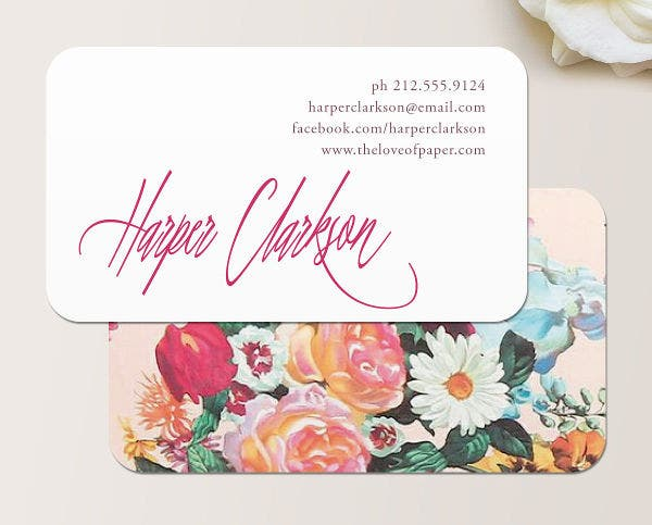 22 floral business cards free premium templates script floral business card accmission Choice Image