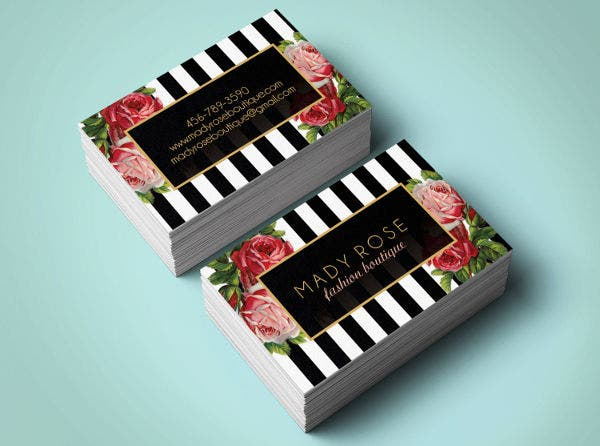 Premade Floral Business Card