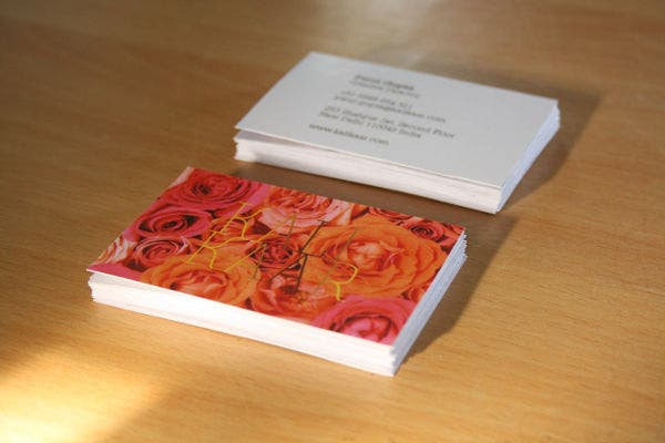Free Download Floral Business Card