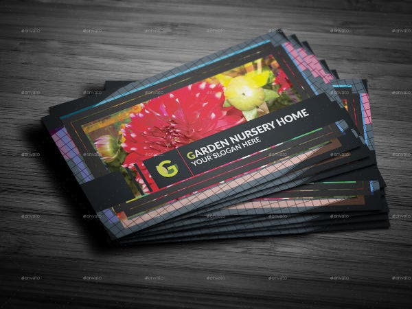 floral nursery business card