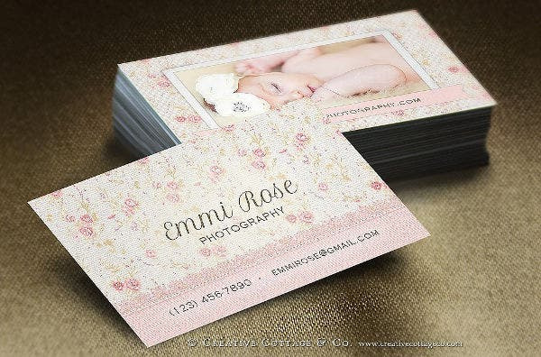 floral lace vintage business card